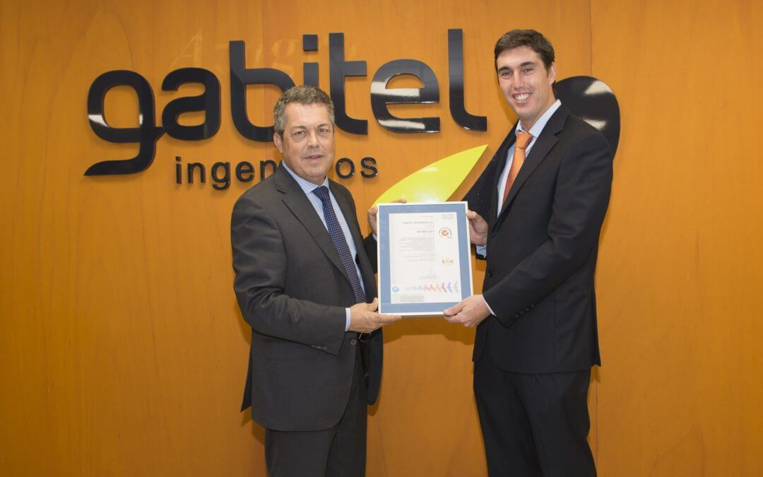 SGS certified Gabitel Ingenieros with the ISO 50001:2011