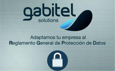 Con Gabitel Solutions, nuestro servicio de consultoría, adapta tu empresa al Reglamento Europeo de Protección de Datos