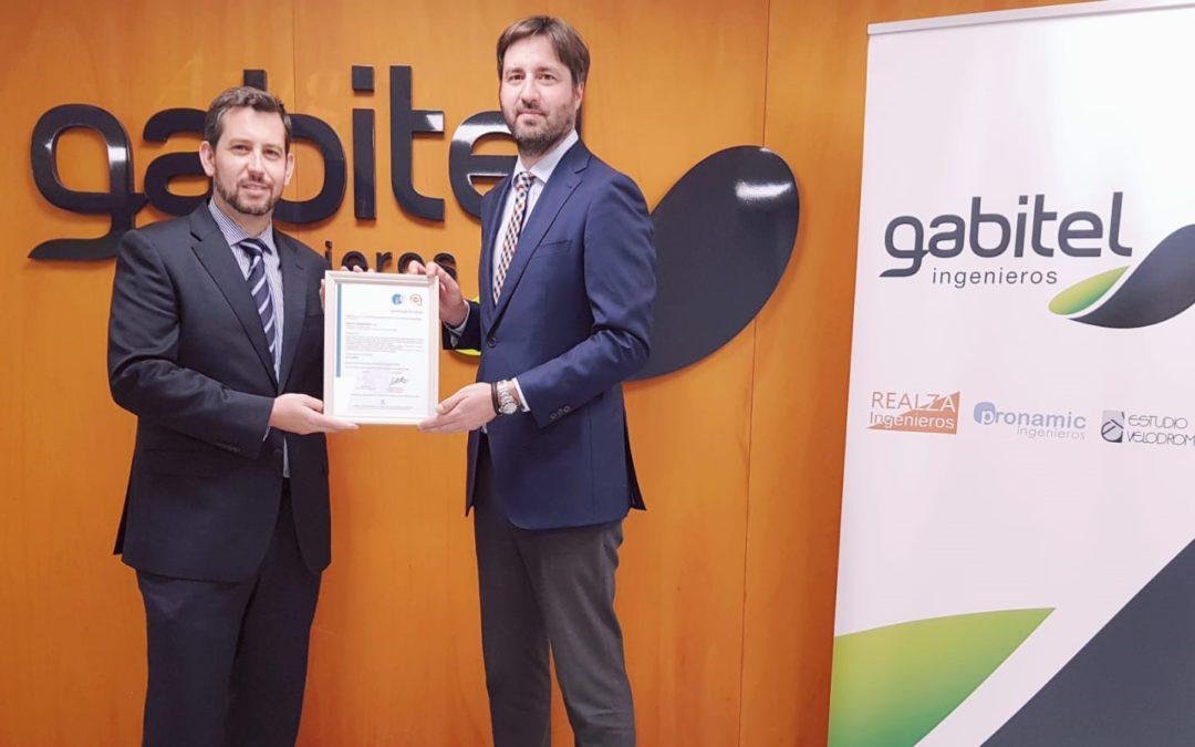 Gabitel Ingenieros recibe la certificación en gestión ética y socialmente responsable