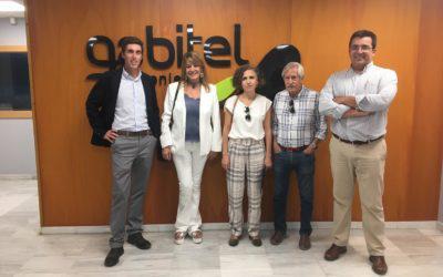 Pilar Miranda, presidenta del Puerto de Huelva, visita la sede de Gabitel Ingenieros