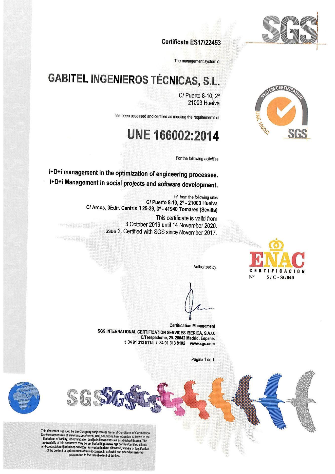 UNE-166002:2014
