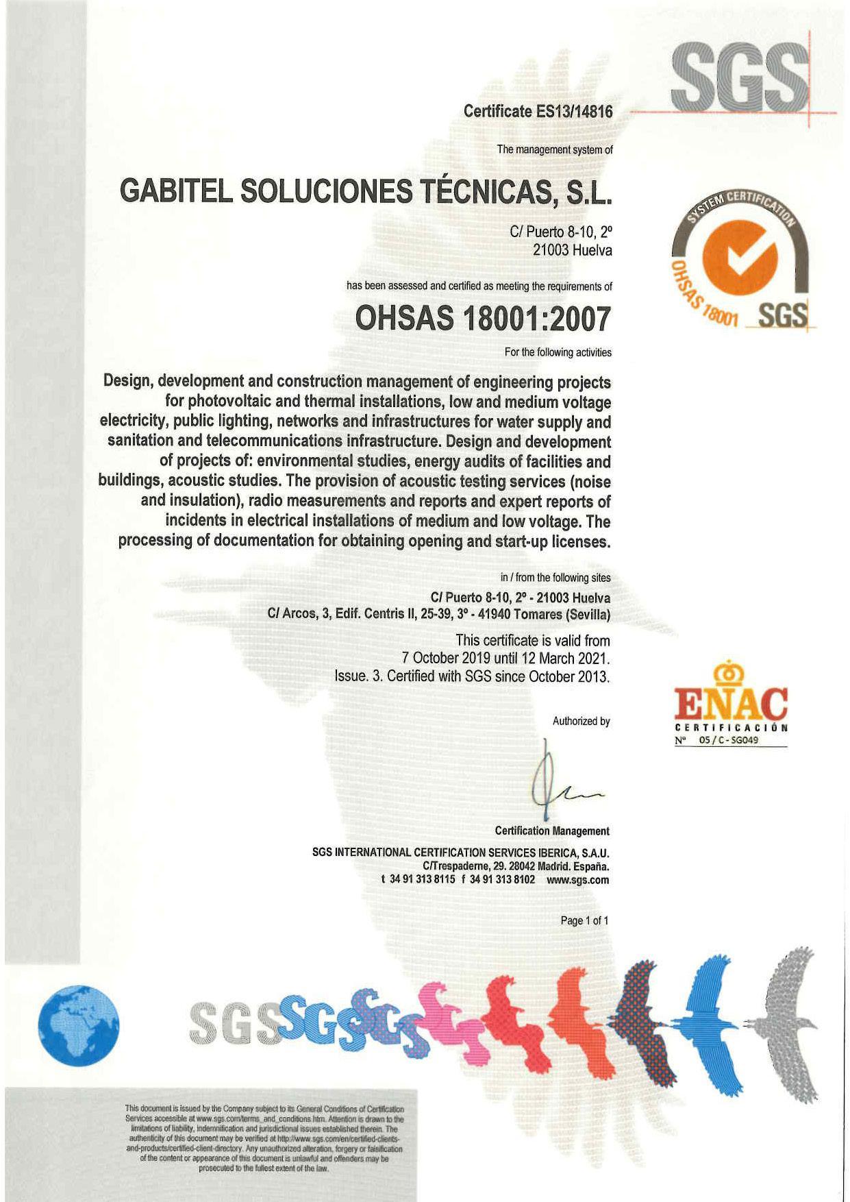 OHSAS-18001:2007